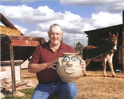 Jerry Brown and Blue the Mule. Photo courtesy of Smithsonian American Art Museum, March 2008.
